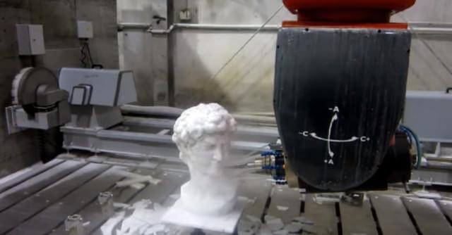 5 Eksen frezede işlenmiş Davut heykeli